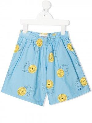 Плавки-шорты с логотипом Bobo Choses. Цвет: синий