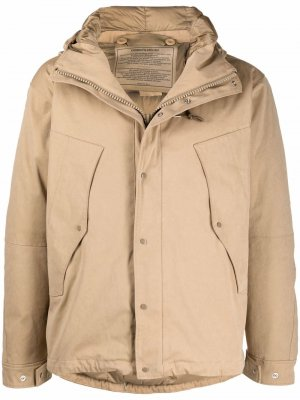 Куртка на молнии с капюшоном Ten C. Цвет: нейтральные цвета