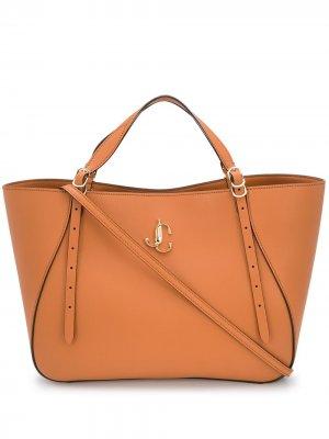 Большая сумка-тоут Varenne Jimmy Choo. Цвет: коричневый