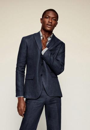 Пиджак Mango Man - FLORIDA. Цвет: синий