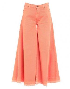 Повседневные брюки AVANTGAR DENIM by EUROPEAN CULTURE. Цвет: оранжевый