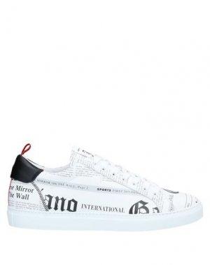 Низкие кеды и кроссовки JOHN GALLIANO. Цвет: белый