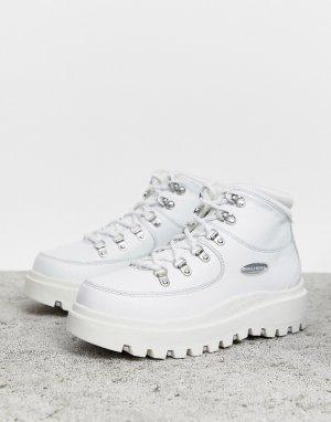 Кожаные походные ботинки с 6 парами люверсов Shindig-Белый Skechers