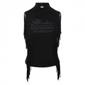 Майка Harley-Davidson. Цвет: чёрный