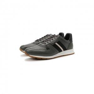 Кожаные кроссовки Arnold Bally. Цвет: зелёный