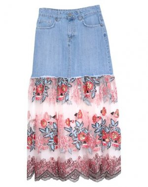 Джинсовая юбка DIXIE. Цвет: синий