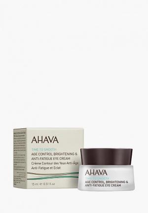 Крем для кожи вокруг глаз Ahava Time To Smooth замедляющий возр. изм., придающий сияние и снимающий признаки утомления, 15 мл. Цвет: прозрачный