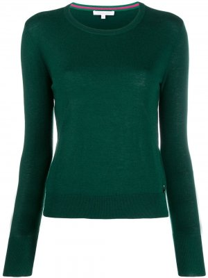 Пуловер с подвеской-логотипом Patrizia Pepe. Цвет: зеленый