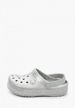 Сабо Crocs Crocband Glitter Clog K. Цвет: серый