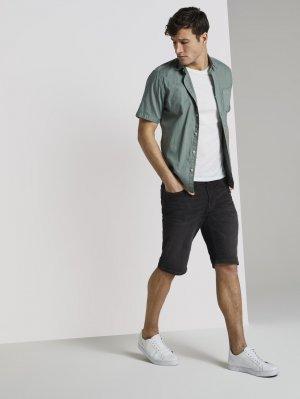 Джинсовые шорты TOM TAILOR. Цвет: черный