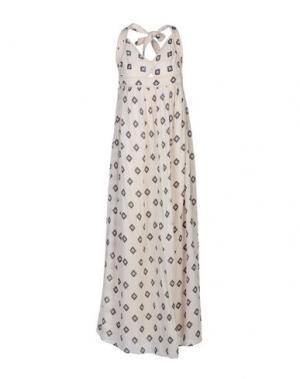 Длинное платье INTROPIA. Цвет: слоновая кость
