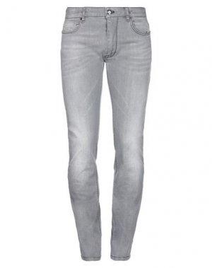 Джинсовые брюки MASON'S. Цвет: серый