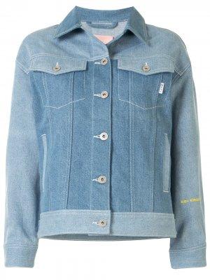 Джинсовая куртка с логотипом BAPY BY *A BATHING APE®. Цвет: черный