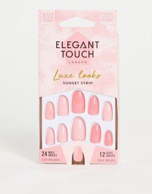 Накладные ногти (Sunset Strip)-Розовый цвет Elegant Touch