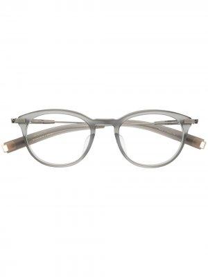 Солнцезащитные очки LSA-402 в круглой оправе Dita Eyewear. Цвет: серый