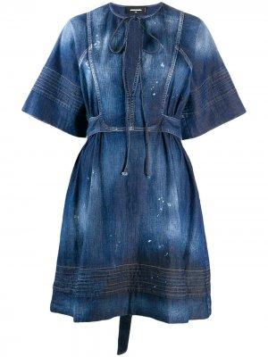 Джинсовое платье Georgette Dsquared2. Цвет: синий